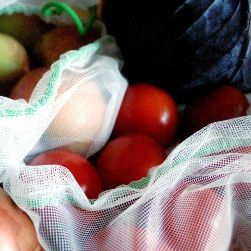 Padk de bolsas de malla para fruta residuo cero y solidarias