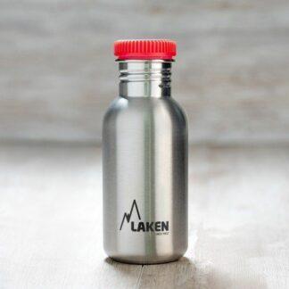 Botella de acero inoxidable Basic Steel 500ml laken rojo