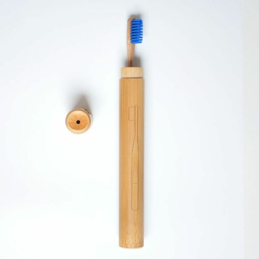 Estuche de cepillo de dientes de bambú