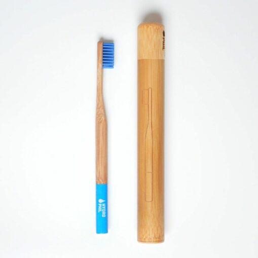 Estuche de bambú de cepillo de dientes de bambú