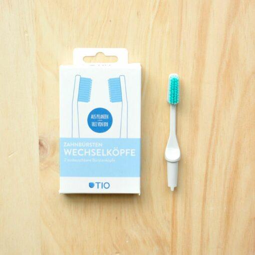 cabeza reemplazable compostable cepillo dental medio