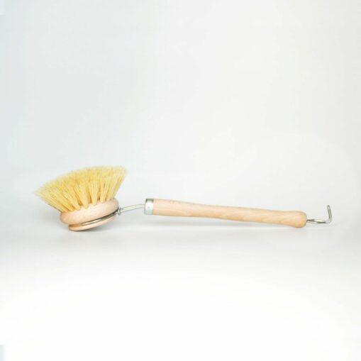 Cepillo lavaplatos de madera y cerdas vegetales