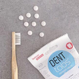 Denttabs dentrífico en tabletas con flúor