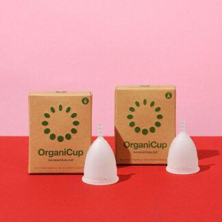 Organic Cup copa menstrual tallas a b