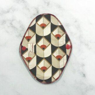 Salvaslip reutilizable de tela barcelona Maripuri TIjeritas Granate