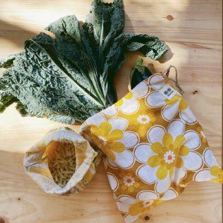 bolsa para verduras tejido reutilizado